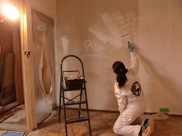 ペンキ塗り