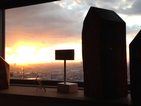 スタジオからの夕日